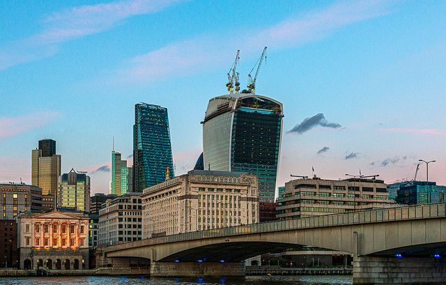 City of London Skyline as Night Approaches (Canon EOS 70D & EF-S 17-55mm f2.8 Zoom) (1 of 1)