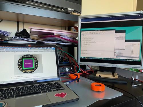 Vicky's new Maker project - generative art & Adafruit Circuit Playground & TFT Gizmo