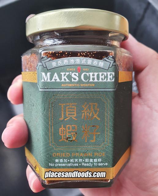 maks chee dried prawn roe