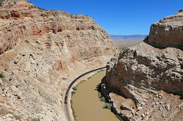 Curving through Sheep Canyon