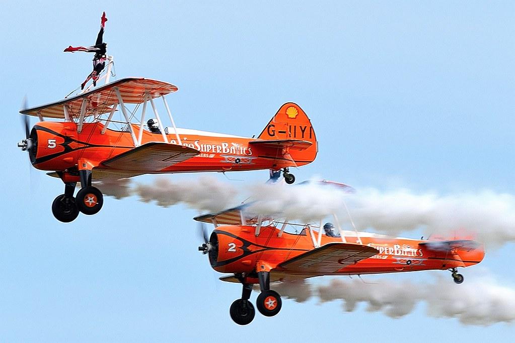 The Flying Circus Aerobatic Team AeroSuperBatics Wingwalkers Boeing Stearman
