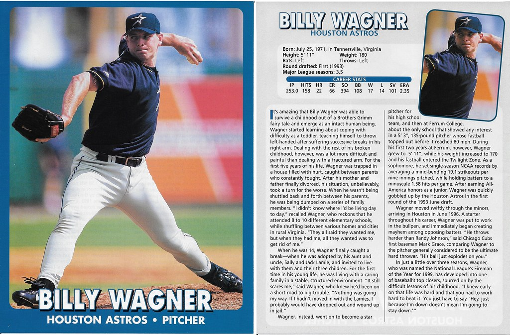 2000 East End Publishing Superstar Album Poster - Billy Wagner