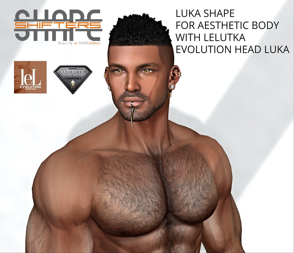 [SHAPEshifters] LUKA SHAPE FOR AESTHETIC BODY WITH LELUTKA EVOLUTION HEAD LUKA