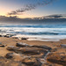 Merrillie posted a photo:Rocks uncovered on the Beach at Low Tide - Sunrise from MacMasters Beach on the Central Coast, NSW, Australia.