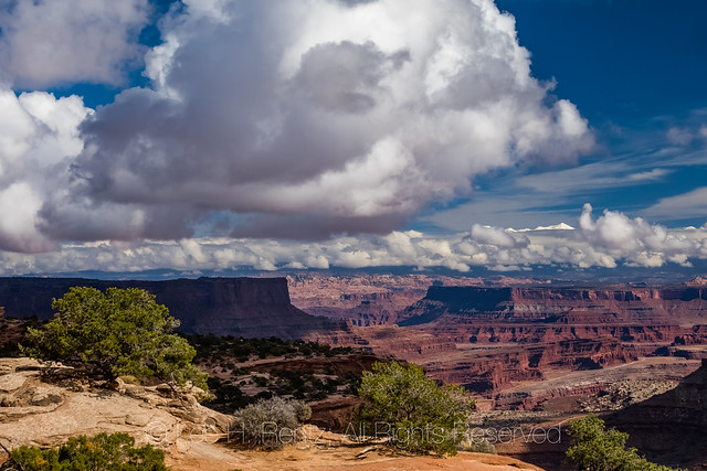View from Shafer Canyon Overlook in Canyonlands National Park