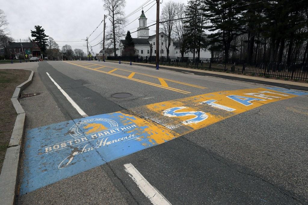 波士頓馬拉松取消。(達志影像)