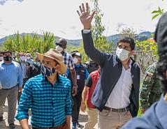 VICEPRESIDENTE VISITÓ VARIOS CANTONES EN AZUAY PARA SUPERVISAR LA ENTREGA DE ALIMENTOS Y ATENCIÓN EN SALUD, 28 DE MAYO DE 2020.
