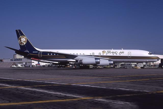 N802MG - Douglas DC-8-62  - MGM Grand Air - KLAX - July 1990
