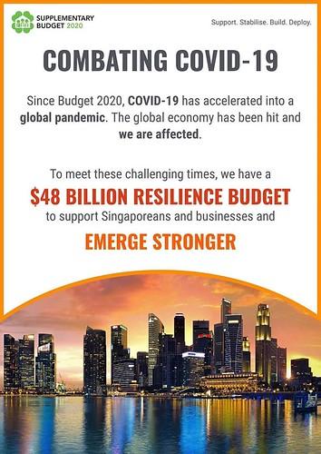 圖01.新加坡政府編480億新幣彈性預算救經濟