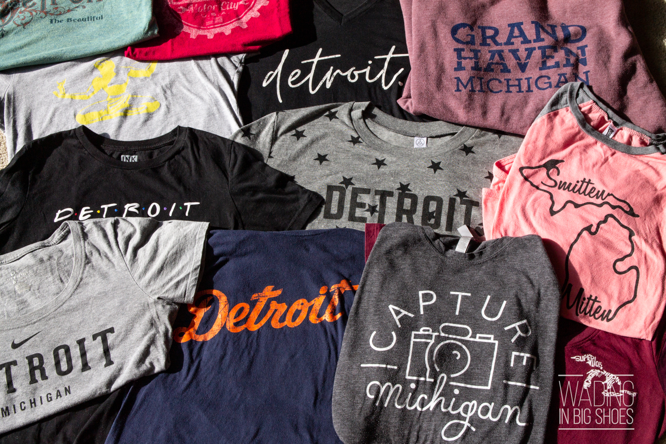 Local Fashion Love: My (Mostly Detroit) Michigan T-Shirt Collection
