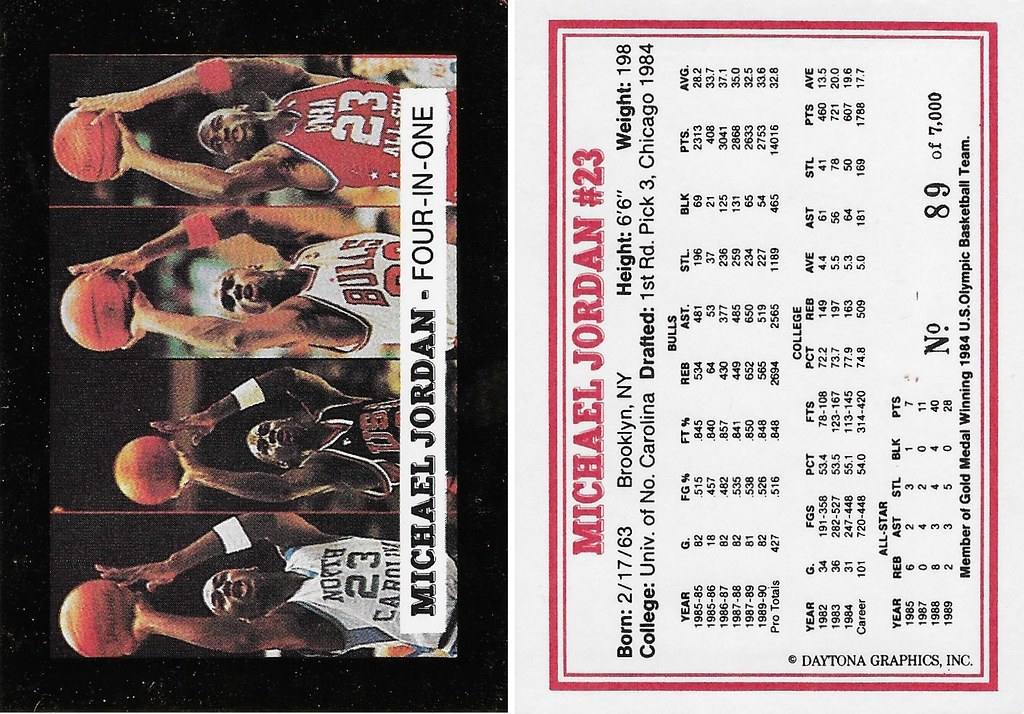 1991 Daytona Graphics Four-In-One Michael Jordan