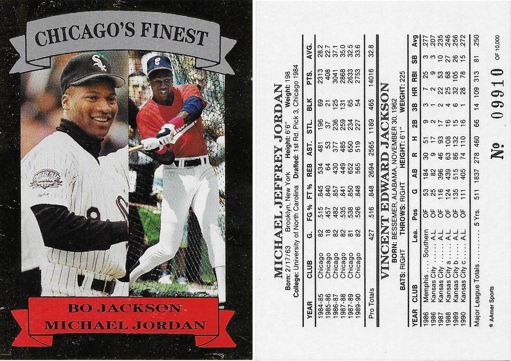 1991 Aamer Sports Chicagos Finest Michael Jordan Bo Jackson