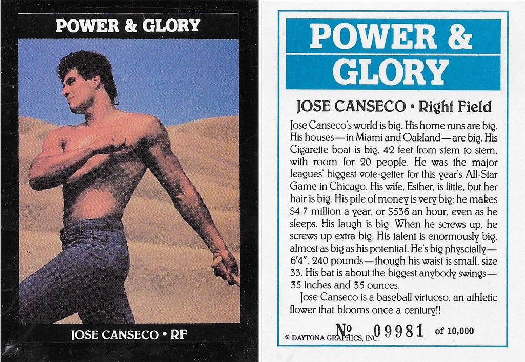 1991 Daytona Graphics Power & Glory Jose Canseco