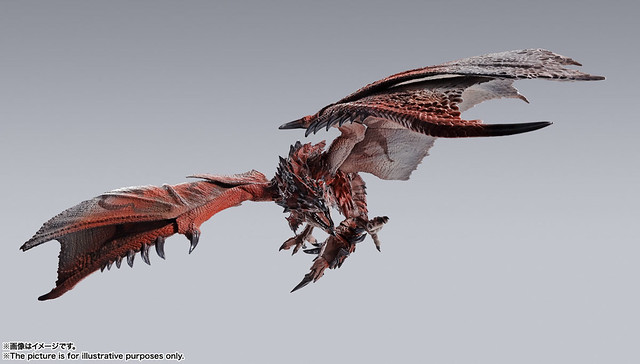 天空王者降臨 S.H.MonsterArts 系列!《魔物獵人》雄火龍 利奧雷烏斯(リオレウス)商品情報公開