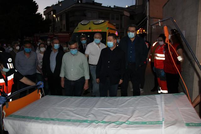 INCENDIO HOSPITAL HELLÍN, GARCÍA PAGE SE DESPLAZA PARA CONOCER LA SITUACIÓN