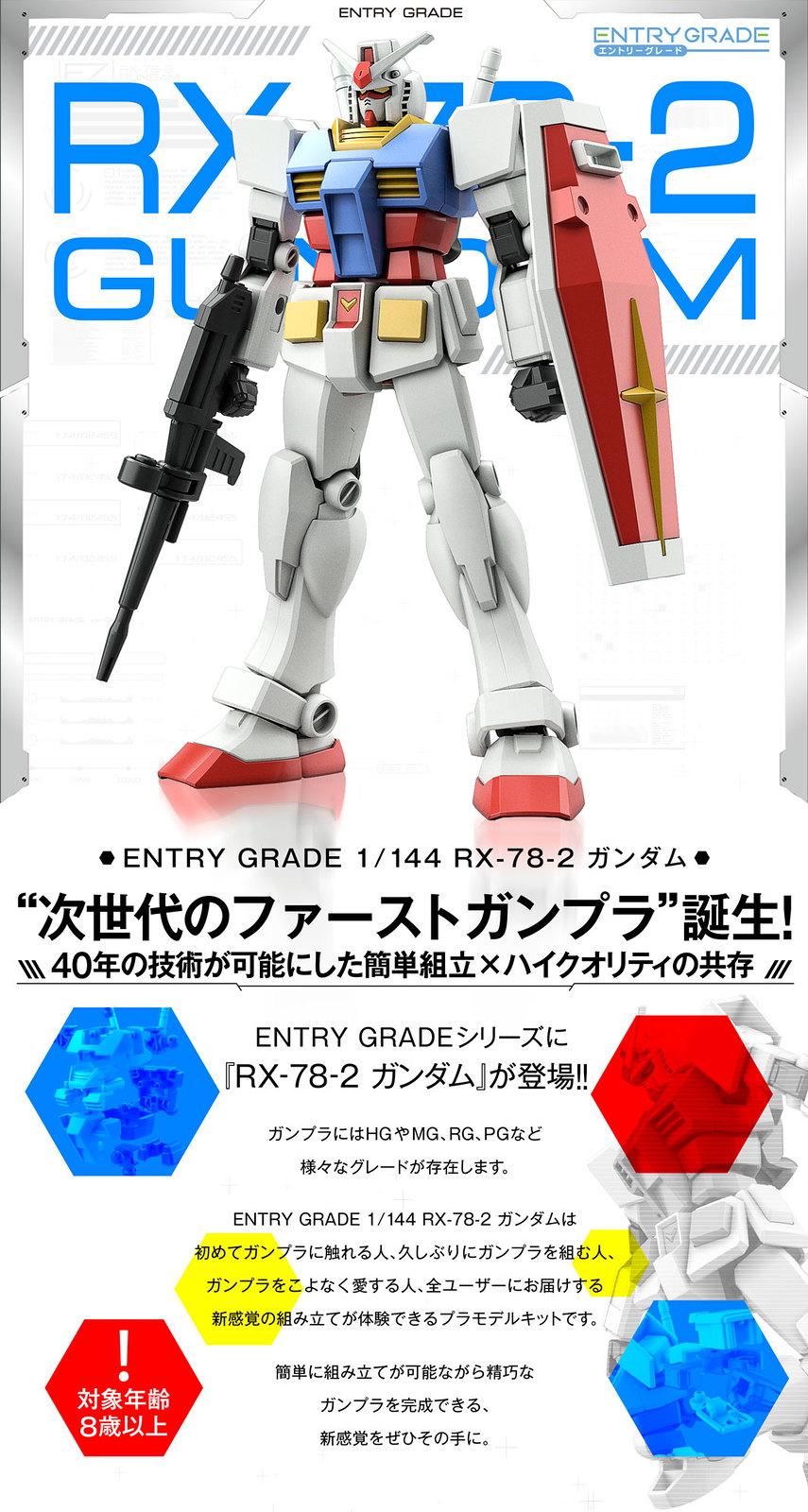 組裝簡單卻有出色可動!ENTRY GRADE 1/144《機動戰士鋼彈》RX-78-2 鋼彈(ガンダム)