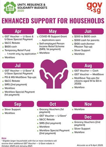 圖10.家庭補助時程表(4月至12月)