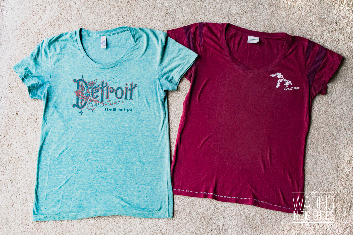 Wading in Big Shoes - Local Fashion Love: My (Mostly Detroit) Michigan T-Shirt Collection