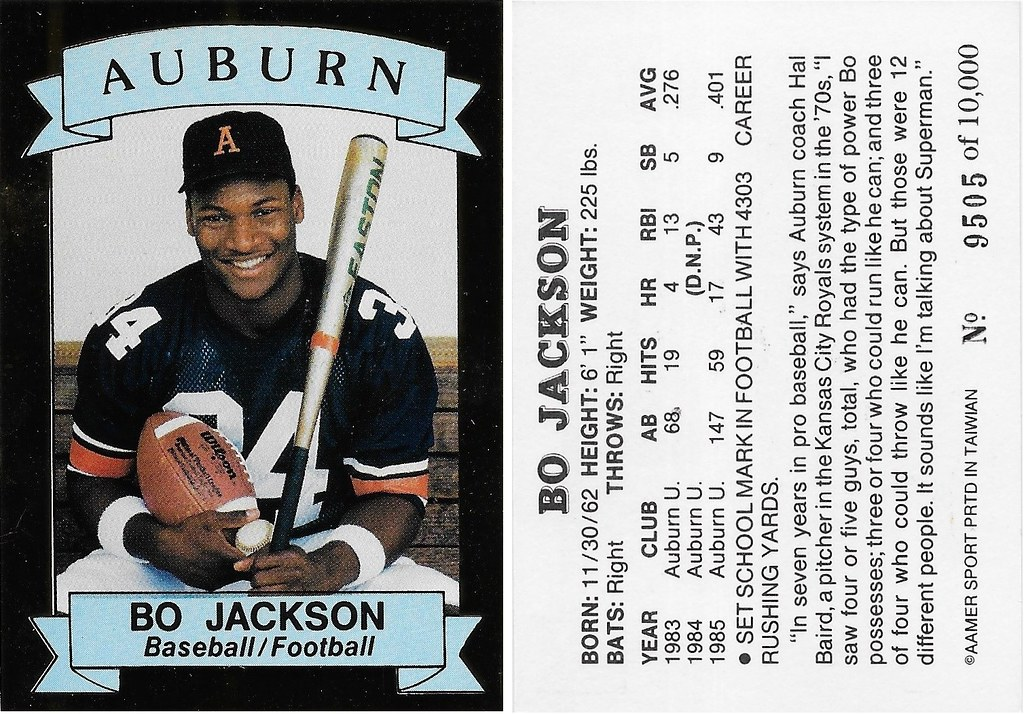 1991 Aamer Sports Auburn Bo Jackson