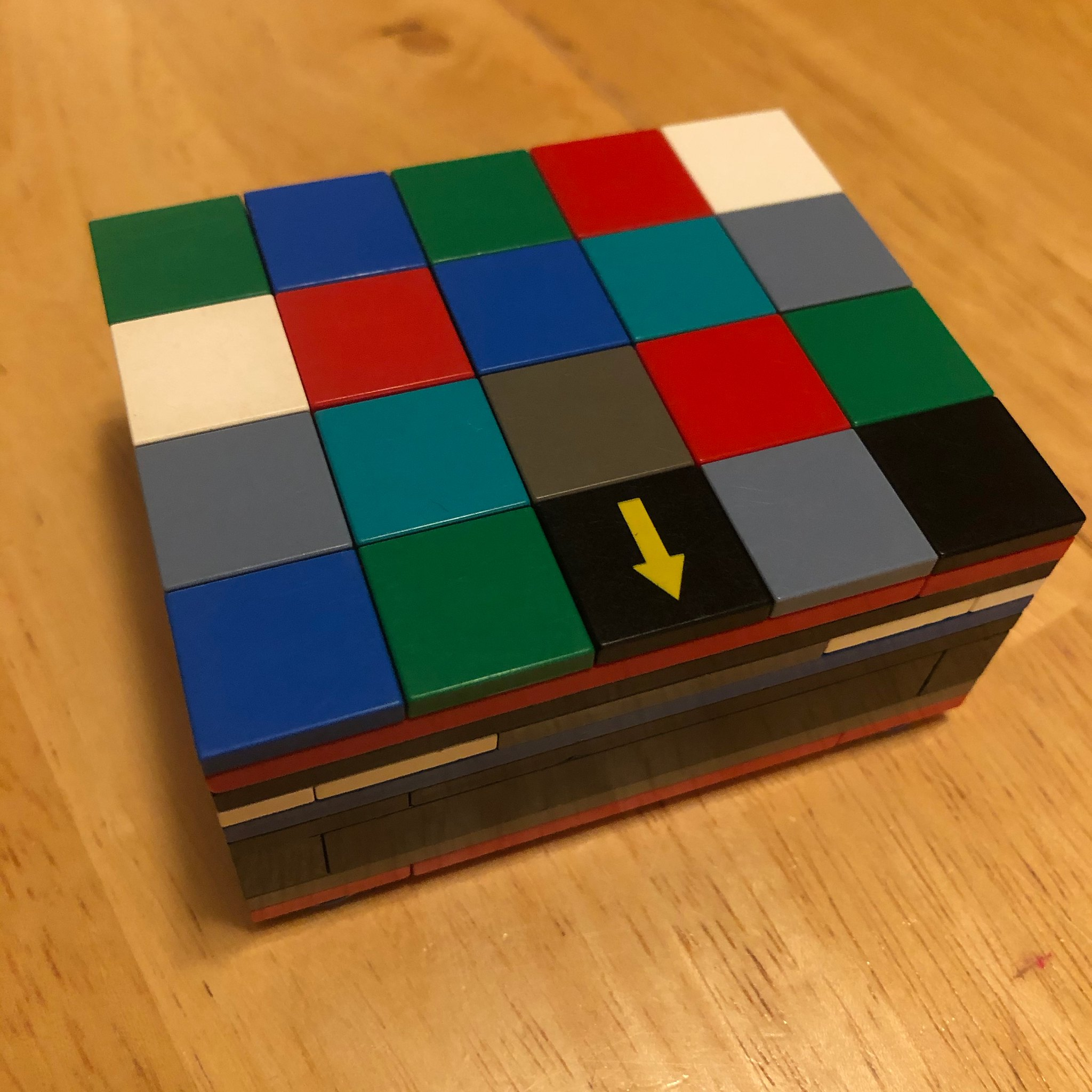 Box with squares on lid closed