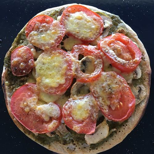 Quick pizza using sourdough discard