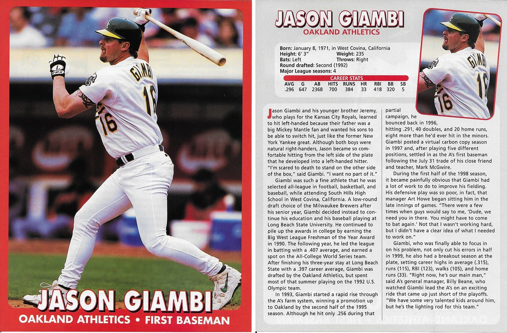 2000 East End Publishing Superstar Album Poster - Jason Giambi