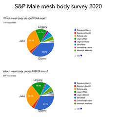 S&P male mesh body survey result