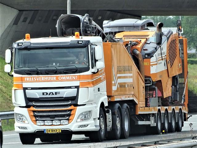 DAF XF106, freesverhuur Ommen, Holland.