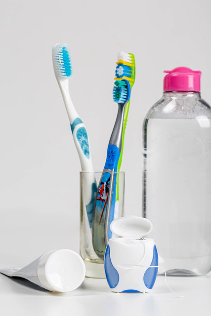 Toothpaste, toothbrushes, mouthwash and dental floss