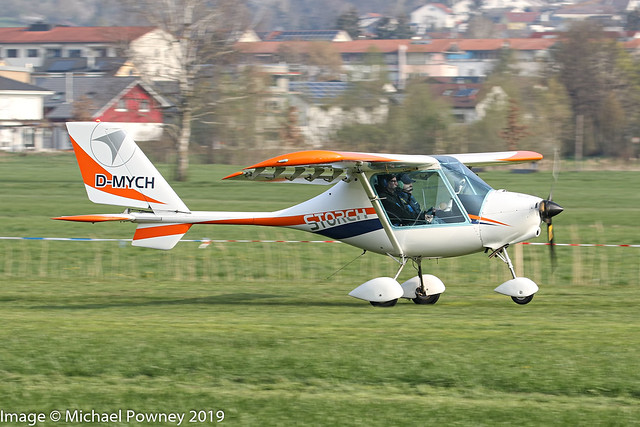 D-MYCH - Fly Synthesis Storch HS, arriving at Markdorf during Aero 2019 at nearby Friedrichshafen