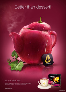 Creative Advertisement Design Tea Curtis