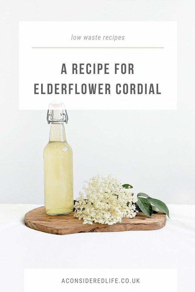 A Recipe For Elderflower Cordial