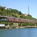 Bobinero de Captrain Bilbao Mercancías-Aranda de Duero pasando por Olabeaga