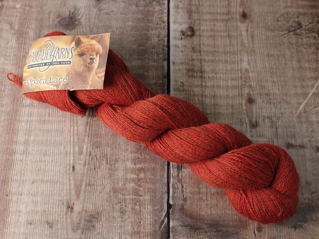 Destash yarn: Cascade Yarns Baby Alpaca Lace 50g – rust
