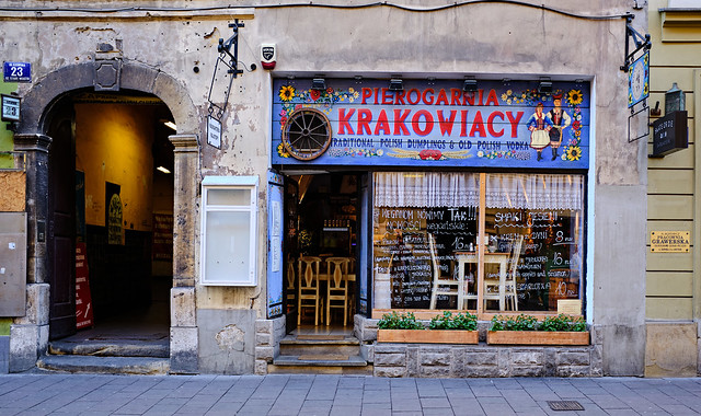 Traditional Polish Dumpling Cafe ( Krakow Old Town) Fujifilm X100F