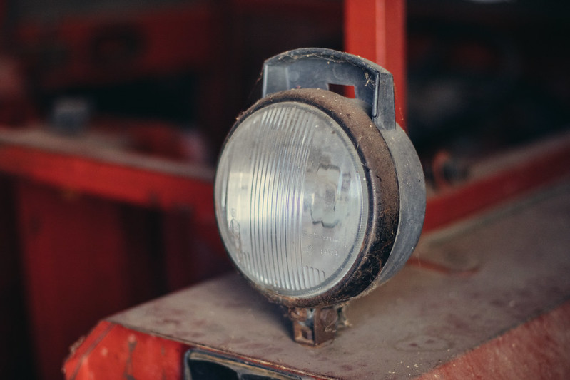 Light on an old tractor