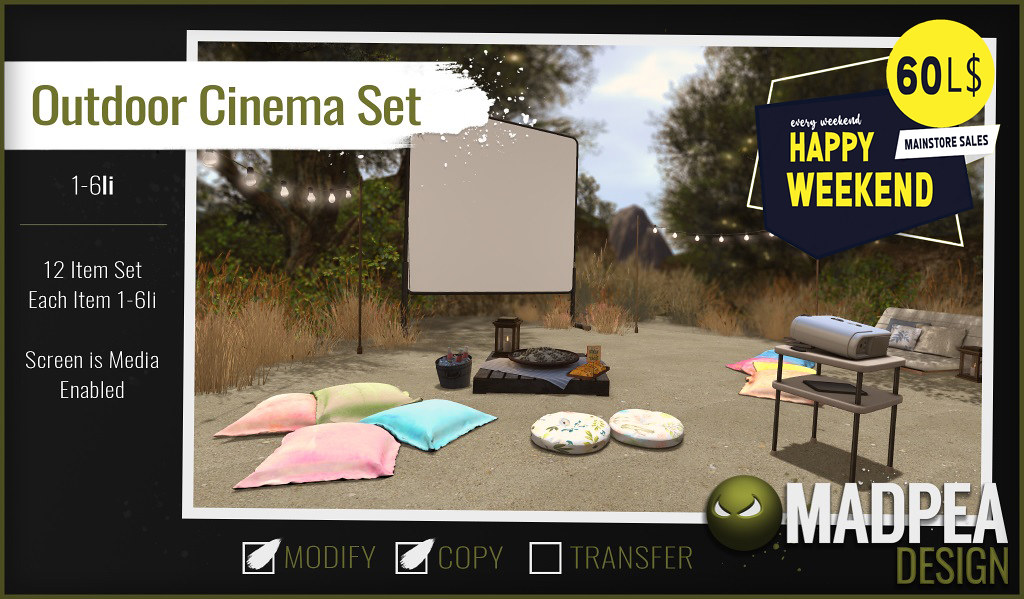 MadPea Outdoor Cinema Set For Happy Weekend!