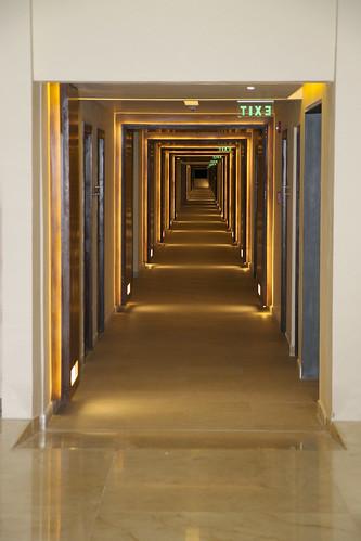 Hallways on one of the floors, Royalton Riviera Cancun Resort & Spa, Mexico