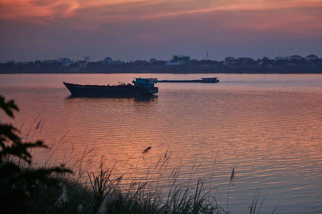 Silk Island – Sunset over Mekong river