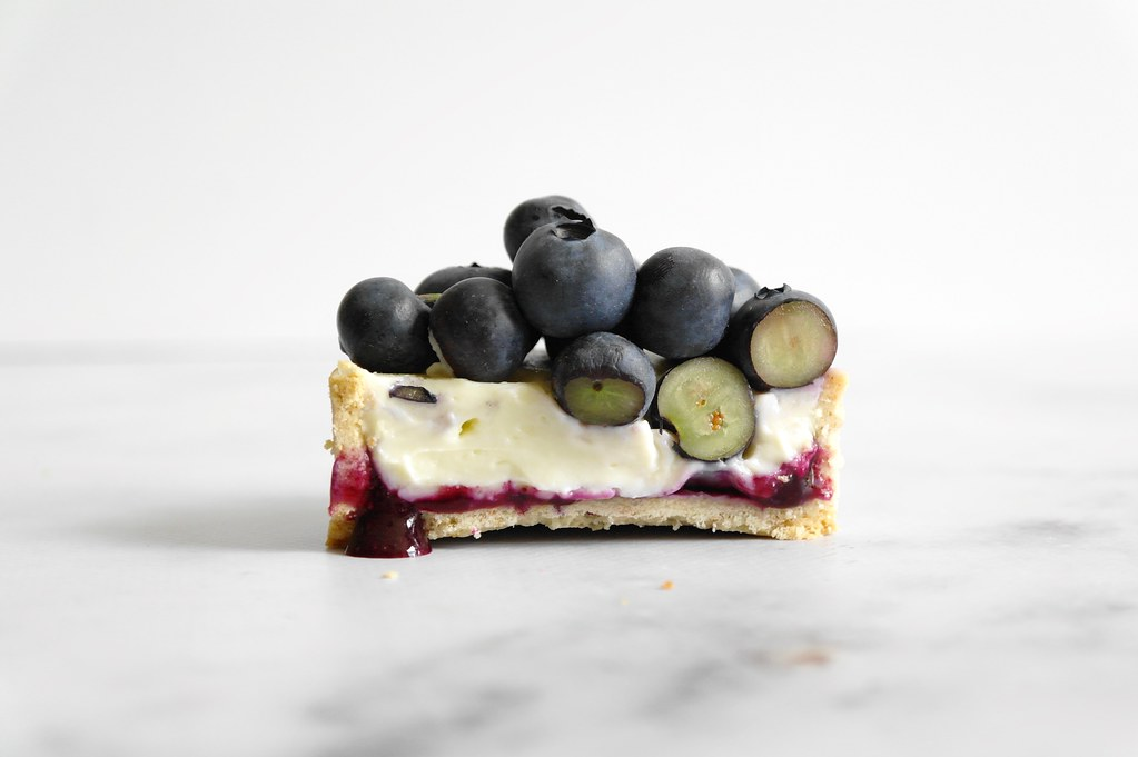 blueberry lemongrass mint tarts
