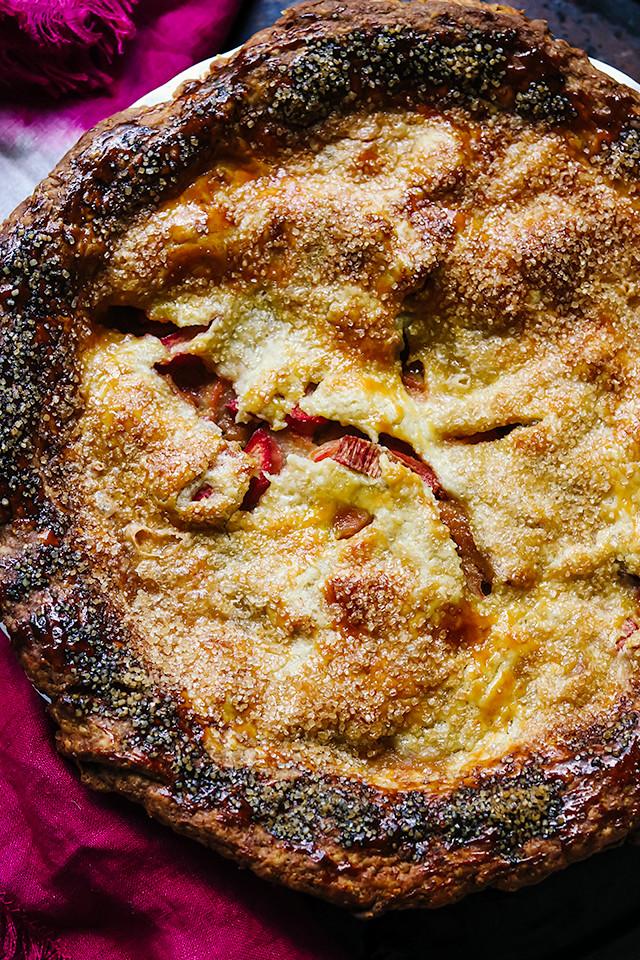 Rhubarb and Brown Sugar Pie
