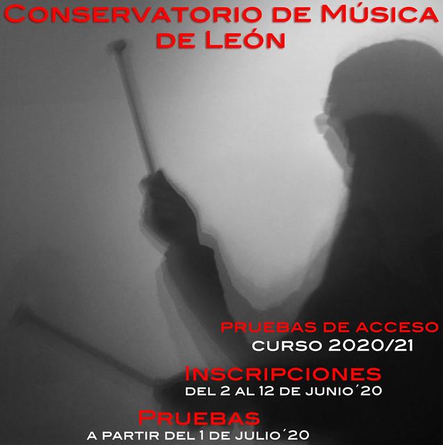 PRUEBAS DE ACCESO AL CONSERVATORIO DE LEÓN PARA EL CURSO 20/21