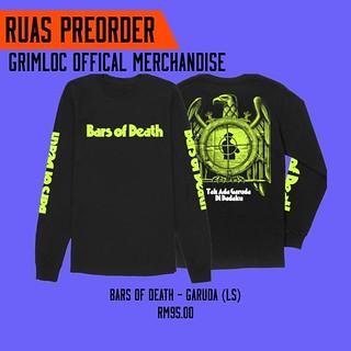 BARS OF DEATH – Garuda (Long Sleeve) (preorder)