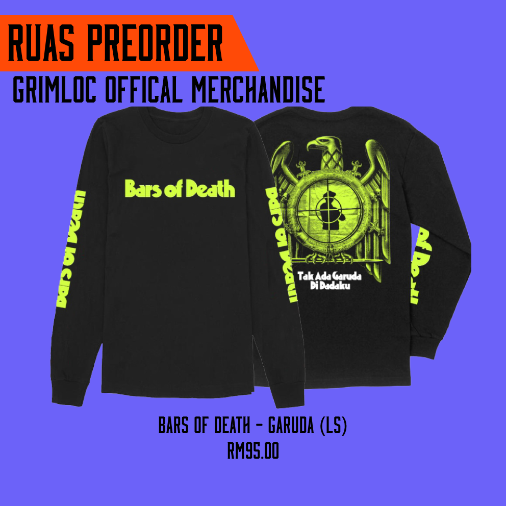 BARS OF DEATH – Garuda (Long Sleeve) (preorder)