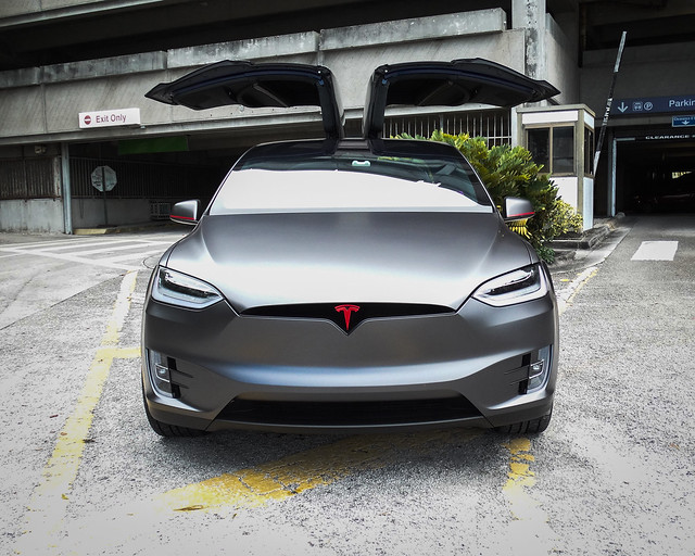 Tesla Model X Full Wrap & Red Accents