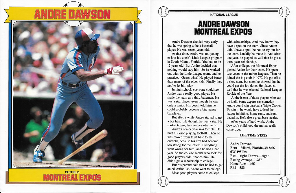 1984 Baseball Superstars Album Poster - Dawson, Andre