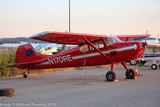 N170RE - 1953 build Cessna 170B, parked at Lake Hood