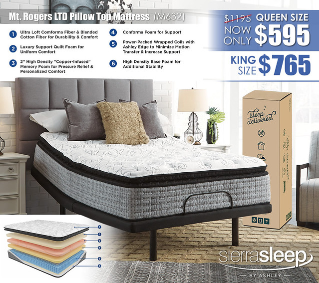 Mt Rogers LTD Pillow Top Mattress Special_M632_wInserts