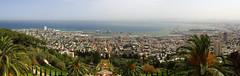 Panorama Hajfy i Ogrody Bahaitów