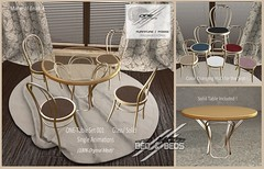 ONE-Table SET 001 (GOLD) - Glass - Solid